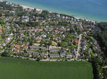 Feld-Wohnung-Strand-Meer